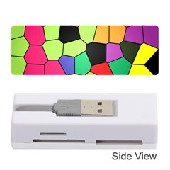 Stained Glass Abstract Background Memory Card Reader (Stick)