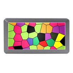Stained Glass Abstract Background Memory Card Reader (Mini)