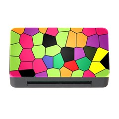 Stained Glass Abstract Background Memory Card Reader with CF