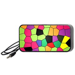 Stained Glass Abstract Background Portable Speaker (Black)