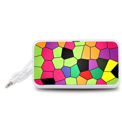 Stained Glass Abstract Background Portable Speaker (White)