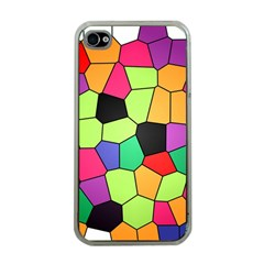 Stained Glass Abstract Background Apple iPhone 4 Case (Clear)