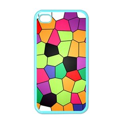 Stained Glass Abstract Background Apple iPhone 4 Case (Color)