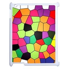 Stained Glass Abstract Background Apple iPad 2 Case (White)