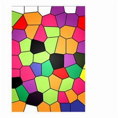 Stained Glass Abstract Background Small Garden Flag (Two Sides)
