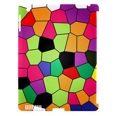 Stained Glass Abstract Background Apple iPad 3/4 Hardshell Case (Compatible with Smart Cover)