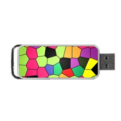 Stained Glass Abstract Background Portable USB Flash (One Side)