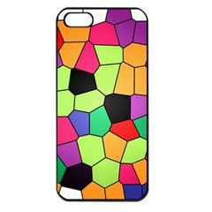 Stained Glass Abstract Background Apple iPhone 5 Seamless Case (Black)