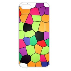 Stained Glass Abstract Background Apple iPhone 5 Seamless Case (White)