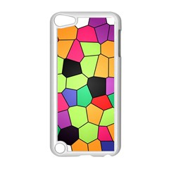 Stained Glass Abstract Background Apple iPod Touch 5 Case (White)