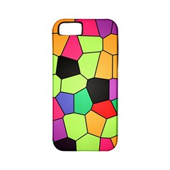 Stained Glass Abstract Background Apple iPhone 5 Classic Hardshell Case (PC+Silicone)