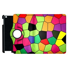 Stained Glass Abstract Background Apple iPad 3/4 Flip 360 Case
