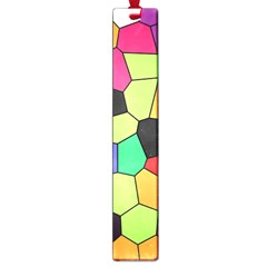 Stained Glass Abstract Background Large Book Marks