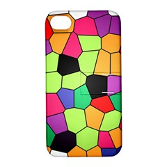 Stained Glass Abstract Background Apple iPhone 4/4S Hardshell Case with Stand