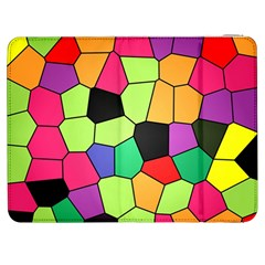 Stained Glass Abstract Background Samsung Galaxy Tab 7  P1000 Flip Case