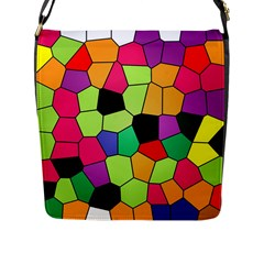 Stained Glass Abstract Background Flap Messenger Bag (L)