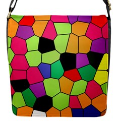 Stained Glass Abstract Background Flap Messenger Bag (S)