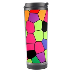 Stained Glass Abstract Background Travel Tumbler