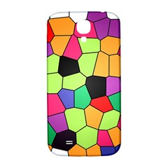 Stained Glass Abstract Background Samsung Galaxy S4 I9500/I9505  Hardshell Back Case