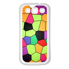 Stained Glass Abstract Background Samsung Galaxy S3 Back Case (White)