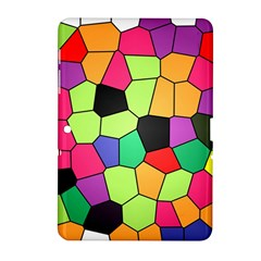 Stained Glass Abstract Background Samsung Galaxy Tab 2 (10.1 ) P5100 Hardshell Case