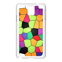 Stained Glass Abstract Background Samsung Galaxy Note 3 N9005 Case (White)