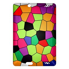 Stained Glass Abstract Background Amazon Kindle Fire HD (2013) Hardshell Case