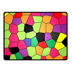 Stained Glass Abstract Background Double Sided Fleece Blanket (Small)