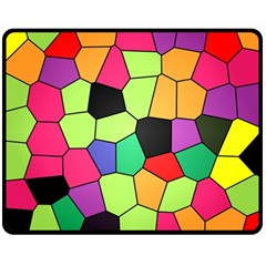Stained Glass Abstract Background Double Sided Fleece Blanket (Medium)