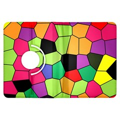 Stained Glass Abstract Background Kindle Fire HDX Flip 360 Case