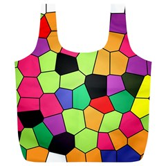 Stained Glass Abstract Background Full Print Recycle Bags (L)