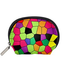 Stained Glass Abstract Background Accessory Pouches (Small)
