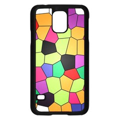 Stained Glass Abstract Background Samsung Galaxy S5 Case (Black)
