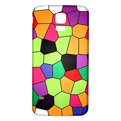 Stained Glass Abstract Background Samsung Galaxy S5 Back Case (White)