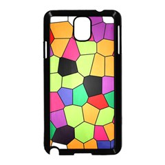 Stained Glass Abstract Background Samsung Galaxy Note 3 Neo Hardshell Case (Black)