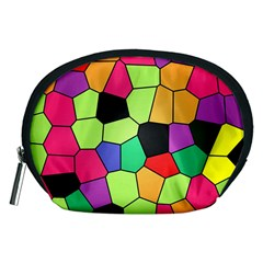 Stained Glass Abstract Background Accessory Pouches (Medium)