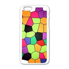 Stained Glass Abstract Background Apple iPhone 6/6S White Enamel Case