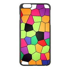 Stained Glass Abstract Background Apple iPhone 6 Plus/6S Plus Black Enamel Case