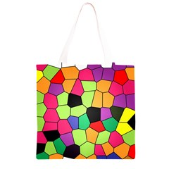 Stained Glass Abstract Background Grocery Light Tote Bag