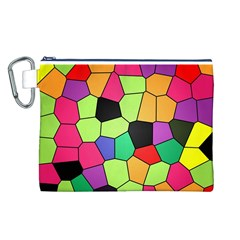 Stained Glass Abstract Background Canvas Cosmetic Bag (L)