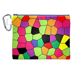 Stained Glass Abstract Background Canvas Cosmetic Bag (XXL)