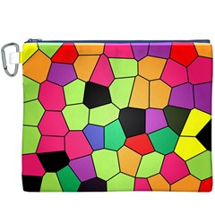 Stained Glass Abstract Background Canvas Cosmetic Bag (XXXL)
