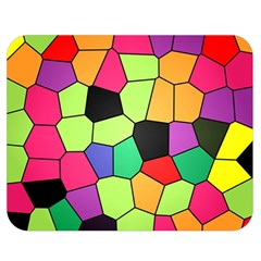 Stained Glass Abstract Background Double Sided Flano Blanket (Medium)
