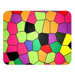 Stained Glass Abstract Background Double Sided Flano Blanket (Large)