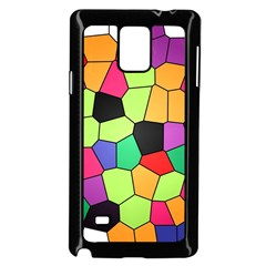 Stained Glass Abstract Background Samsung Galaxy Note 4 Case (Black)