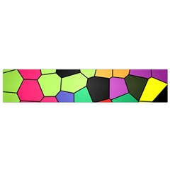 Stained Glass Abstract Background Flano Scarf (Small)