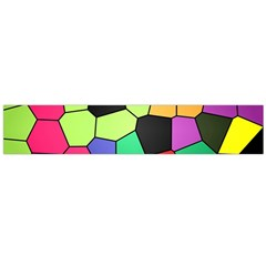 Stained Glass Abstract Background Flano Scarf (Large)