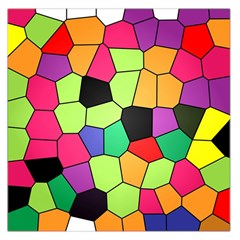 Stained Glass Abstract Background Large Satin Scarf (Square)