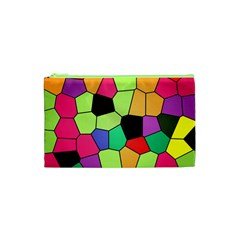 Stained Glass Abstract Background Cosmetic Bag (XS)
