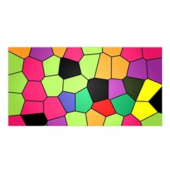 Stained Glass Abstract Background Satin Shawl